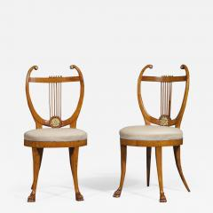 Set of Six Lyre Back Chairs - 1934950