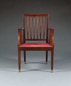Set of Six Mahogany Armchairs - 534335