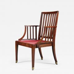 Set of Six Mahogany Armchairs - 553546