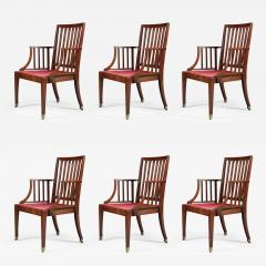 Set of Six Mahogany Armchairs - 553547