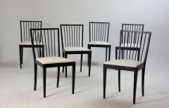 Set of Six Mid Century Modern Chairs by Flama M veis Manufacture Brazil 1950s - 1212712
