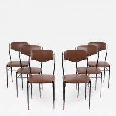 Set of Six Mid Century Modern Dining Chairs - 1313957
