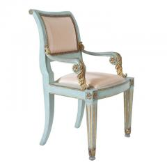 Set of Six Parcel Gilt and Painted Armchairs Italy circa 1800 - 789297