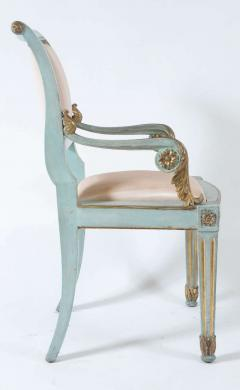 Set of Six Parcel Gilt and Painted Armchairs Italy circa 1800 - 789298
