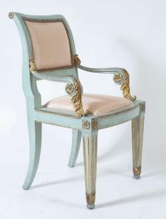 Set of Six Parcel Gilt and Painted Armchairs Italy circa 1800 - 789300