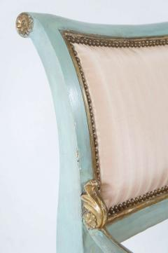 Set of Six Parcel Gilt and Painted Armchairs Italy circa 1800 - 789301