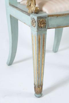 Set of Six Parcel Gilt and Painted Armchairs Italy circa 1800 - 789303