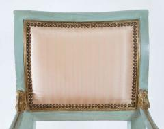 Set of Six Parcel Gilt and Painted Armchairs Italy circa 1800 - 789306