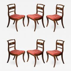 Set of Six Regency Painted Klismos Chairs - 978916