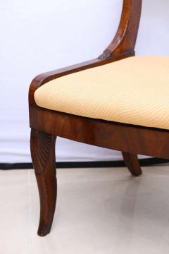 Set of Six Russian Neoclassic Mahogany Dining or Side Chairs - 350155