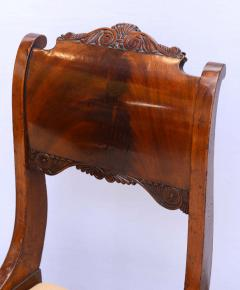 Set of Six Russian Neoclassic Mahogany Dining or Side Chairs - 350156