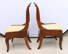 Set of Six Russian Neoclassic Mahogany Dining or Side Chairs - 350158