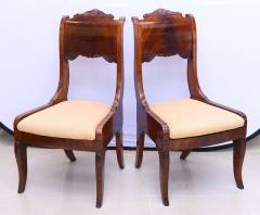 Set of Six Russian Neoclassic Mahogany Dining or Side Chairs - 350159