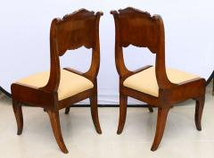 Set of Six Russian Neoclassic Mahogany Dining or Side Chairs - 350160