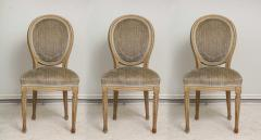 Set of Six Vintage Louis XVI Style Painted Dining Room Chairs - 2067149