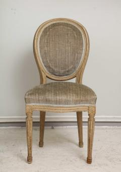 Set of Six Vintage Louis XVI Style Painted Dining Room Chairs - 2067150