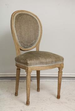 Set of Six Vintage Louis XVI Style Painted Dining Room Chairs - 2067151