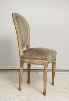 Set of Six Vintage Louis XVI Style Painted Dining Room Chairs - 2067152