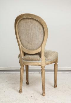 Set of Six Vintage Louis XVI Style Painted Dining Room Chairs - 2067153