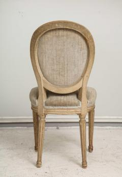 Set of Six Vintage Louis XVI Style Painted Dining Room Chairs - 2067154