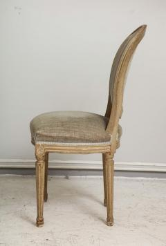 Set of Six Vintage Louis XVI Style Painted Dining Room Chairs - 2067155