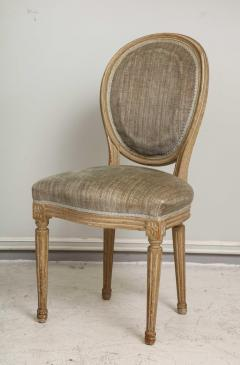 Set of Six Vintage Louis XVI Style Painted Dining Room Chairs - 2067157