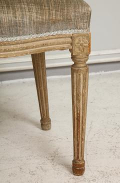 Set of Six Vintage Louis XVI Style Painted Dining Room Chairs - 2067158