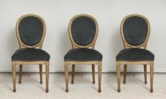 Set of Six Vintage Louis XVI Style Painted Dining Room Chairs - 2067159