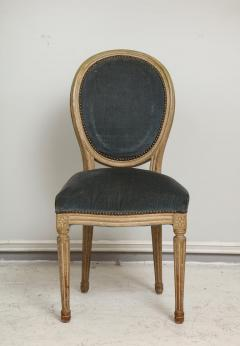 Set of Six Vintage Louis XVI Style Painted Dining Room Chairs - 2067160