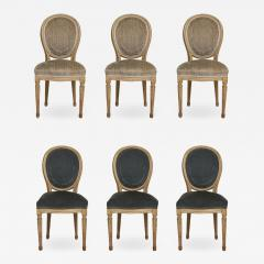 Set of Six Vintage Louis XVI Style Painted Dining Room Chairs - 2068846