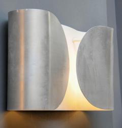 Set of Six Waved Metal Wall Sconces - 716218