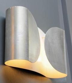 Set of Six Waved Metal Wall Sconces - 716220