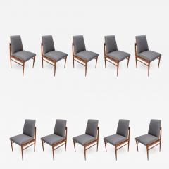 Set of Ten 1960s Brazilian Caviuna Dining Chairs by LAtelier - 1172816
