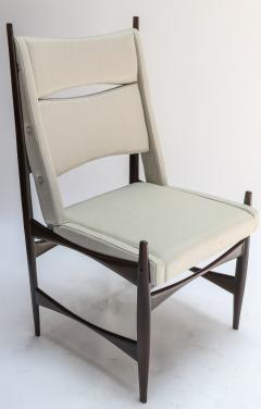 Set of Ten 1960s Brazilian Dining Chairs in Beige Linen - 983090