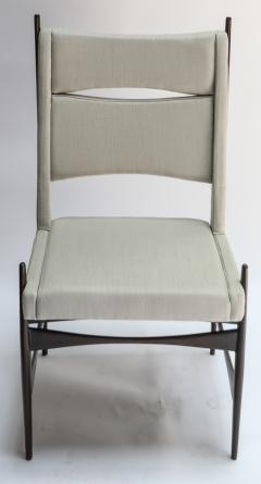 Set of Ten 1960s Brazilian Dining Chairs in Beige Linen - 983092