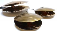 Set of Three Brass Clam Shell Table Lamps - 307397