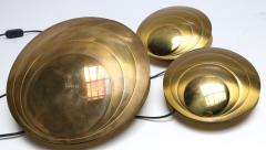 Set of Three Brass Clam Shell Table Lamps - 307398