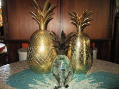 Set of Three Brass Pineapples Ice Bucket or Trinket Boxes Mid Century Modern - 1570666