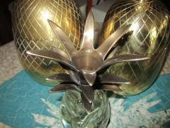 Set of Three Brass Pineapples Ice Bucket or Trinket Boxes Mid Century Modern - 1570668