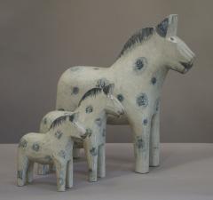 Set of Three Carved Dala Horses - 694099