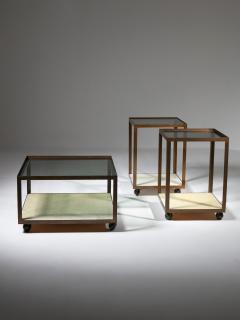 Set of Three Italian 60s Brass Side Tables - 1587500