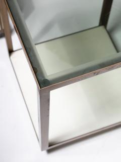 Set of Three Italian 60s Brass Side Tables - 1587501