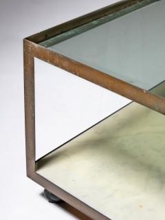 Set of Three Italian 60s Brass Side Tables - 1587503