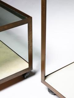 Set of Three Italian 60s Brass Side Tables - 1587504