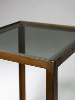 Set of Three Italian 60s Brass Side Tables - 1587505