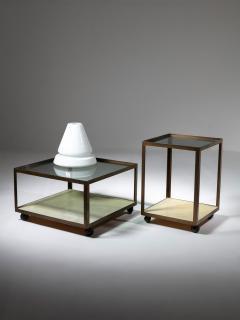 Set of Three Italian 60s Brass Side Tables - 1587506