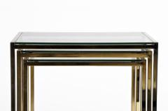 Set of Three Italian Brass and Glass Nesting Tables - 1194151