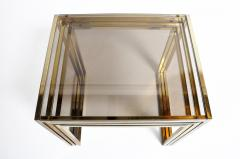 Set of Three Italian Brass and Glass Nesting Tables - 1194157