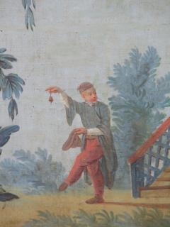 Set of Three Louis XV Painted Chinoiserie Canvas Panels - 1899524