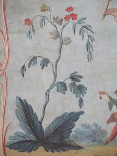 Set of Three Louis XV Painted Chinoiserie Canvas Panels - 1899525